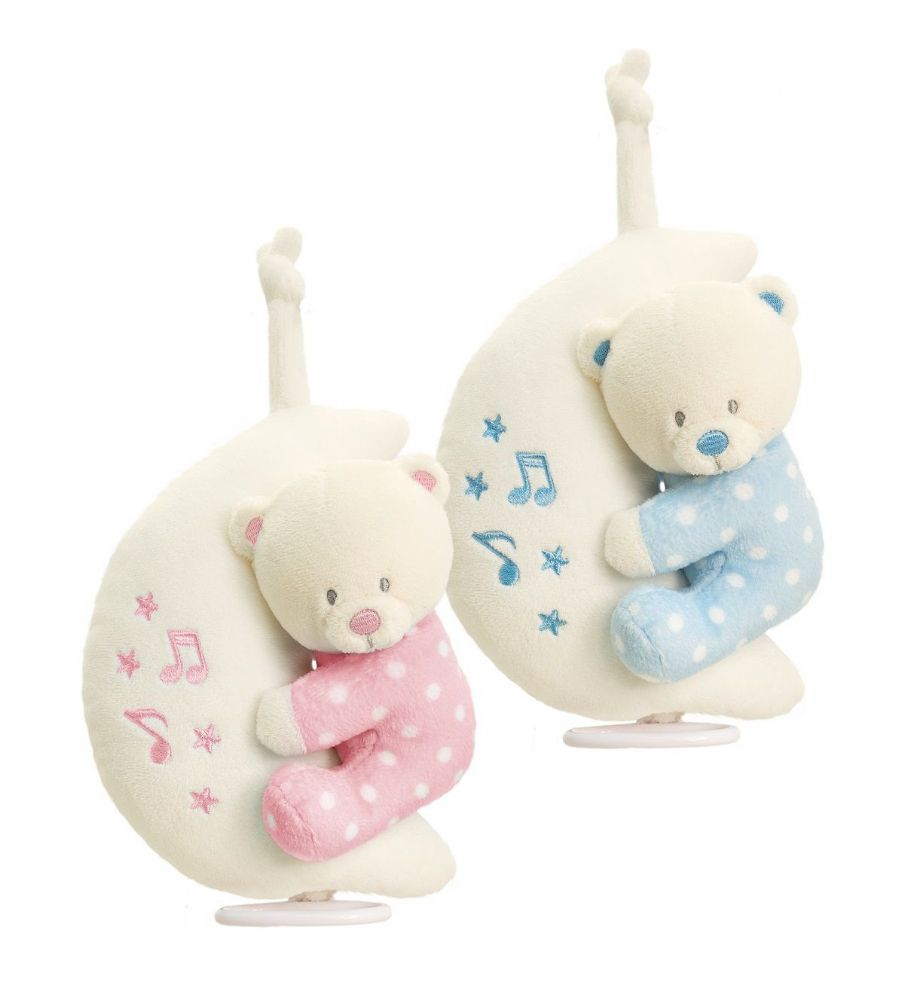 SN0775 20cm Musical Bear on Moon